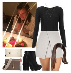"""""""Dinner in London with Harry. -----> *Cynthia."""" by imaginegirlsdsos ❤ liked on Polyvore featuring Yves Saint Laurent, Topshop, Lucky Brand, River Island, Givenchy, women's clothing, women, female, woman and misses"""
