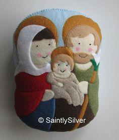Large Holy Family Felt Saint Softie by SaintlySilver on Etsy