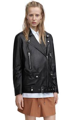 More light black is a lightweight, relaxed fit biker jacket #AcneStudios #Resort2015