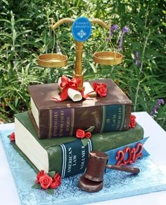 Law school graduation cake By bhv333 on CakeCentral.com