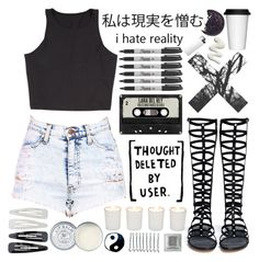 """""""ootd // 6-23-14"""" by nekoprincess ❤ liked on Polyvore featuring Stuart Weitzman, BOBBY, Forever 21, Witchery, Sagaform, Jack Wills, Sharpie and vintage"""