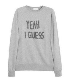3e1242d022 Yeah I Guess appliquéd cotton-jersey sweatshirt Főiskolai Divat, Logan,  Kapucnis Pulcsik,