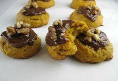 Pumpkin cookies (cake like) w/ Nutella-cream cheese frosting