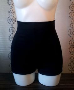 Grable High Waist swim shorts in solid colors by avabelldesigns