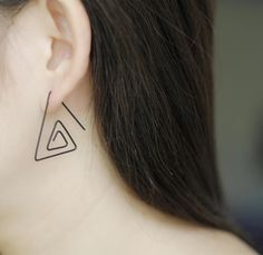 Postmodern Minimalist Fashion Triangle Earrings