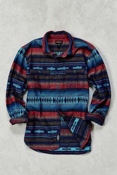 CPO Blanket Stripe Jacquard Flannel Button-Down Shirt