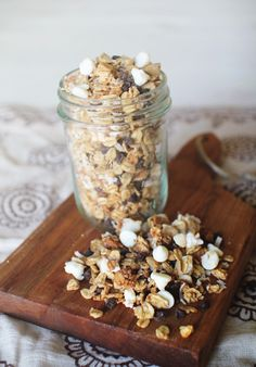 Almond Joy Granola: Unlike traditional granola, this recipe is low in sugar and fat. Serve it with a high-protein Greek yogurt, and you have yourself a well balanced and breakfast or snack