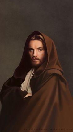 Obi-Wan Kenobi (Ewan McGregor) from Star Wars Obi-Wan Kenobi Star Wars Poster, Star Wars Art, First Jedi, How To Fade, Jedi Knight, The Phantom Menace, Ewan Mcgregor, Love Stars, Obi Wan