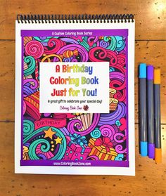 A Birthday Coloring Book Just For You