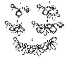 Free pattern for beautiful beaded necklace Bella with dagger beads.  U need:  dagger beads  seed beads 8/0  seed beads 10/0-11/0