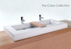 Lavatories / Cube Collection | Wetstyle  LOVE this vendor! Recently utilized an undermount sink from them for a bathroom remodel...