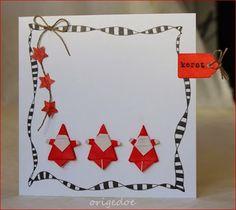 Origami Santa Claus by Yukihiro Matsuno Christmas Origami, Christmas Cards To Make, Xmas Cards, All Things Christmas, Quilling Paper Craft, Paper Crafts Origami, Paper Crafting, Origami Santa Claus, Traditional Japanese Art