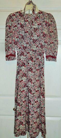 World Book Day-Victorian-Edwardian FLORAL DRESS BONNET /& APRON  All Ages//Sizes