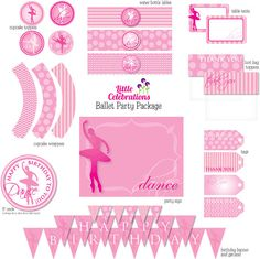 Ballet Birthday Party Printable Package by littlecelebrations, $19.95