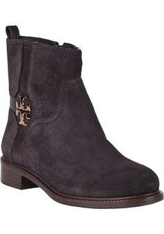 Tory Burch - Alaina Ankle Boot Smoke Grey Suede