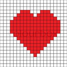 "Buy the royalty-free Stock vector ""Cross stitch heart"" online ✓ All rights included ✓ High resolution vector file for print, web & Social Media Knitting Charts, Baby Knitting, Knitting Patterns, Crochet Patterns, Cross Stitch Patterns, Quilt Patterns, Safety Pin Crafts, Bobble Stitch, Cross Stitch Heart"