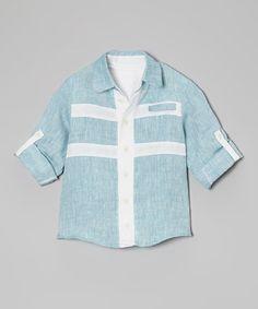 This Laguna Linen Button-Up - Infant & Toddler is perfect! #zulilyfinds