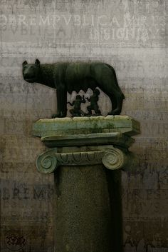 Romulus, Remus and the She-wolf.