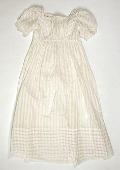ca. 1820, Kinderkleid aus Baumwolle, Europa oder USA