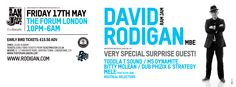 WIN Tickets + more to David Rodigan's Ram Jam @ The Forum - 17th May