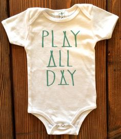 Play All Day Tee, Toddler t-shirt, tank top, Trendy kids clothes, Hipster kids clothes, child t-shirt, Screen Printed Shirts, Graphic Tee