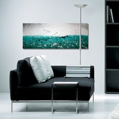 Teal Abstract - Abstract art on canvas by Rob Haigh. Modern canvas art.