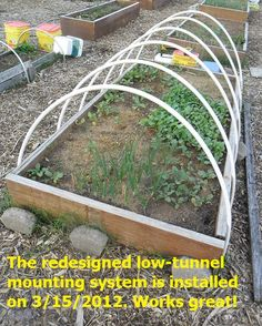 Gardening Hoop Covers · Moving The #LowTunnel PVC Bows Outside Of The  Raised Bed Increases Usable Growing Area A