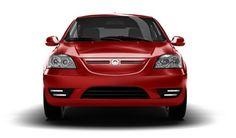 Coda red electric car model