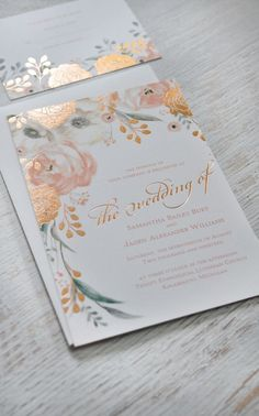 Totally luxe wedding invitations from /dawninvites/ as part of their Colin Cowie Collection. #foil