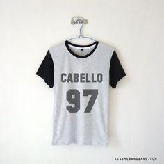 Cabello 97 Baseball Tee $13.99 ; Camila Cabello ; Fifth Harmony Shirt ; Fangirl ; Graphic Tees ; Tumblr  ; Teen Fashion ; Shop more #Fifth Harmony fashion at http://kissmebangbang.com/product-category/fifth-harmony/