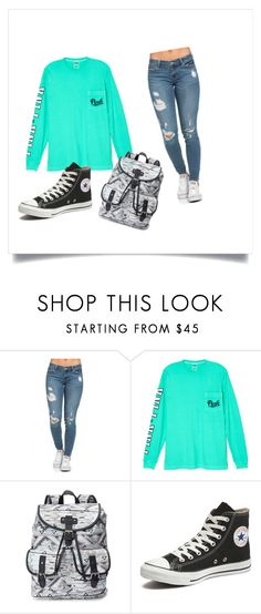 """""""Cap 7- Maia"""" by marilenenunes ❤ liked on Polyvore featuring Victoria's Secret, Candie's and Converse"""