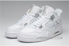 efcaa6ec11db76 Nike Air Jordan 4 Basketball Shoes Man All White