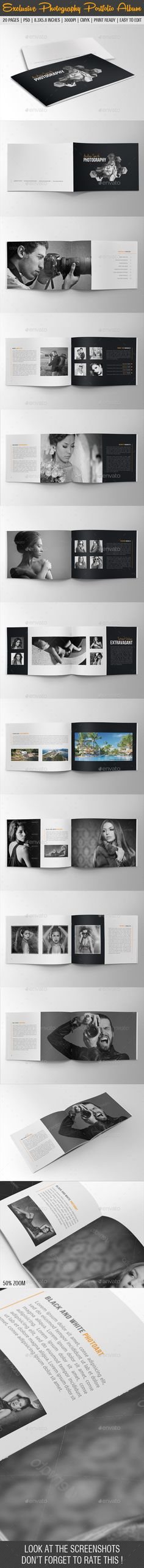 Exclusive Photography Portfolio Album 06 - #Photo #Albums Print Templates Download here: https://graphicriver.net/item/exclusive-photography-portfolio-album-06/9084738?ref=alena994