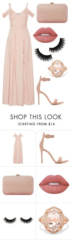 """""""Pink"""" by jordynn-nicole-fishy ❤ liked on Polyvore featuring Rachel Zoe, Gianvito Rossi, Dune, Lime Crime and Effy Jewelry"""