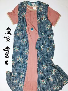 Dainty and beautiful! Dusty rose pink LuLaRoe Carly paired with a soft and silky LuLaRoe Joy. To purchase visit https://m.facebook.com/groups/390398714665830