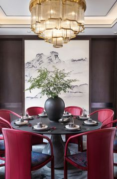 Beautiful Asian Dining Room Ideas - Kitchen - Info Virals - New Fashion and Home Design around the World Dining Room Inspiration, Interior Inspiration, Chinese Interior, Interior Design Institute, Deco Addict, Asian Home Decor, Space Interiors, Of Wallpaper, Dining Room Design