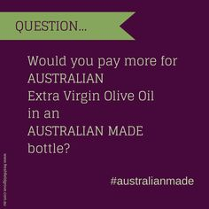I've been looking at packaging for our olive oil and one decision is which bottles to use. There are lots of lovely bottles around but our options this year are pretty limited, as many are only available by the pallet and we're looking at smaller volumes than this. We're keen to use other Australian products where we can, partly to support other Aussie industries, and partly to try and keep the overall food miles down...