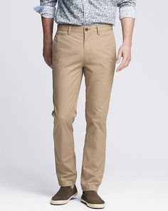 GQ.com: Easier on the wallet and just as easy on the eyes—Banana Republic are a standard cubicle chino.$69.50, available at bananarepublic.com.