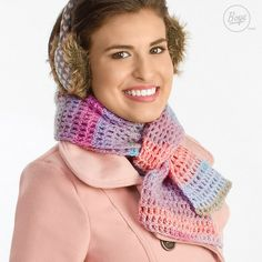 Keep warm without the bulk with an open-weave textured mesh scarf