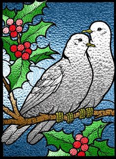 12 Days of Christmas, Day 2. Two Turtle Doves symbolize the Old and New Testaments.