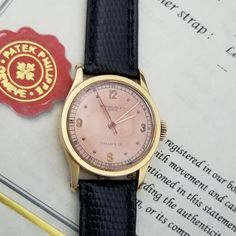 RARE Patek Philippe Tiffany 96 Rose Gold Indirect Second w/ Archive Extract #PatekPhilippe #DressFormal