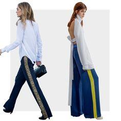 Pantalona ganha listra lateral e ares esportivos