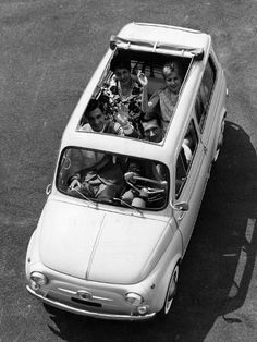 size: Photographic Print: The Car Fiat Giardiniera 500 : Artists Fiat Abarth, Steyr, Small Cars, Historical Pictures, Vintage Cars, Convertible, Automobile, Pure Products, Vehicles