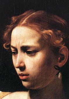 Decapitação Judith Holofernes detalhes, 1598-1599 Caravaggio