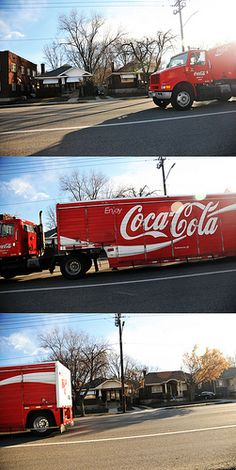 "Coca Cola Truck ""Coming-Here-Gone"" via flickr"