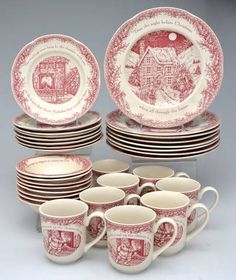 'Twas the Night Before Christmas-Dinnerware Sets 32 Piece Set-Replacements