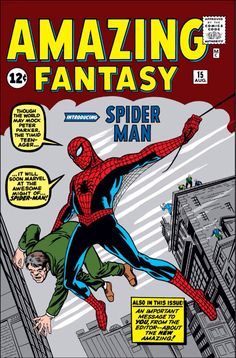 First Spiderman comic appearance. Spiderman is a Marvel character created by writer-editor Stan Lee and writer-artist Steve Ditko. He first appeared in the anthology comic book Amazing Fantasy in August Marvel Comics, Comics Spiderman, Spiderman Poster, Comic Book Superheroes, Batman, Bd Comics, Marvel Comic Books, Comic Book Characters, Comic Books Art