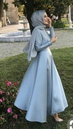 This Pin was discovered by Mir Hijab Prom Dress, Hijab Gown, Muslim Dress, Islamic Fashion, Muslim Fashion, Modest Fashion, Fashion Dresses, Eid Outfits, Dress Outfits