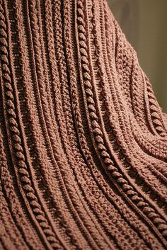 To inspire me to make this afghan....Cables Cables by Annie's Attic.