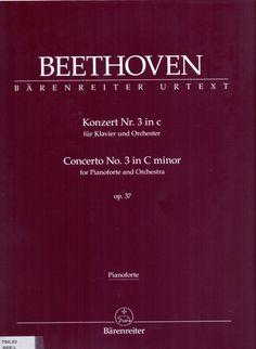 BEETHOVEN, Ludwin van. Konzert nº 3 in C minor. Basel: Bärenreiter Urtext